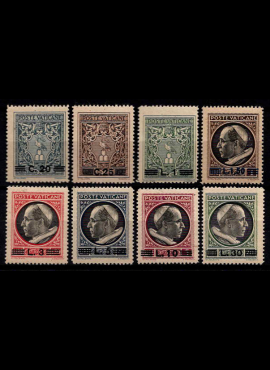 Vatikanas, pilna serija (be Express ženklų), MiNr 116-123 MNH**