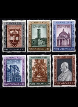 Vatikanas, pilna serija, MiNr 382-387 MNH**