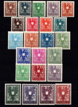 Austrija, pilna serija, MiNr 697-719 MNH**