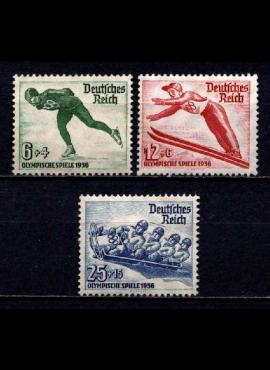 Vokietijos Reichas, pilna serija, MiNr 600-602 MLH*