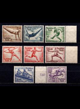 Vokietijos Reichas, pilna serija, MiNr 609-616 MLH*