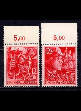Vokietijos Reichas, pilna serija, MiNr 909-910 MNH**