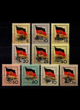 Vokietijos Demokratinė Respublika (VDR), pilna serija, MiNr 722-731 MNH**