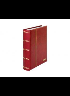 LINDNER Elegant, raudonas, 60 puslapių albumas pašto ženklams 1162S-R