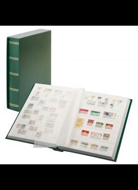 LINDNER Luxus, žalias, 60 puslapių albumas pašto ženklams su dėklu 1162SK-G
