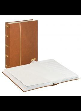 LINDNER Luxus, rudas, 60 puslapių albumas pašto ženklams 1162S-H