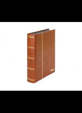 LINDNER Luxus, rudas, 60 puslapių albumas pašto ženklams 1169S-H