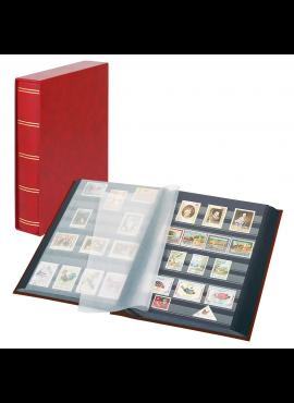 LINDNER Luxus, raudonas, 60 puslapių albumas pašto ženklams su dėklu 1169SK-R