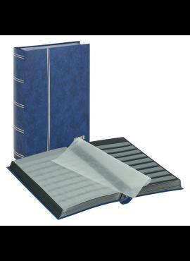 LINDNER Luxus, mėlynas, 60 puslapių albumas pašto ženklams 1169S-B