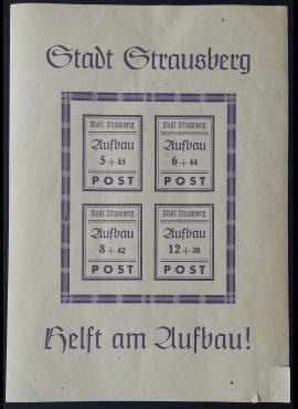 Vokietijos lokalus paštas, Strausbergas Blokas nr. 1 MiNr 38-41 MH*