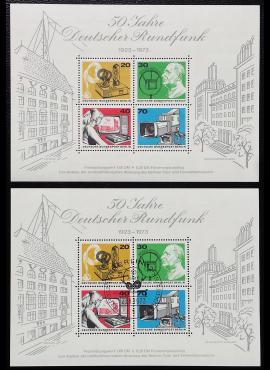 Vokietija, Vakarų Berlynas. Blokas Nr. 4 MiNr 455-458 MNH**