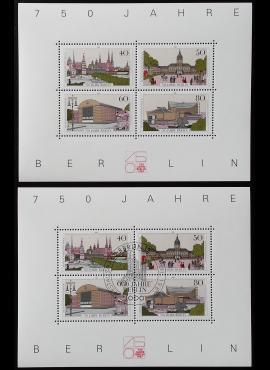 Vokietija, Vakarų Berlynas. Blokas Nr. 8, MiNr 772-775 MNH**