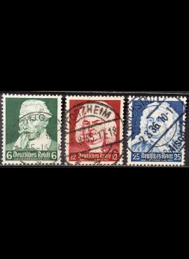 Vokietijos Reichas, pilna serija MiNr 573-575 Used (O)