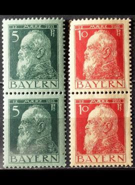 Senoji Vokietija, Bavarija MiNr 77-78 MNH**