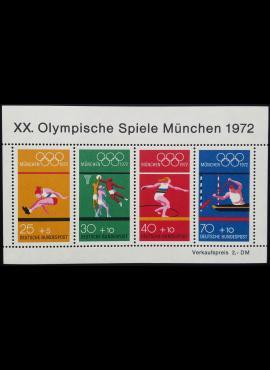 Vokietija. Blokas 8, MiNr 734-737 MNH**