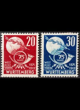 Pokario Vokietija, Prancūzų zona, Viurtembergo žemės, pilna serija MiNr 51-52 MH*