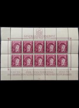 Vokietijos Reichas, Lenkijos okupacija, pilnas lapas, 10 vnt. MiNr 104 MNH**