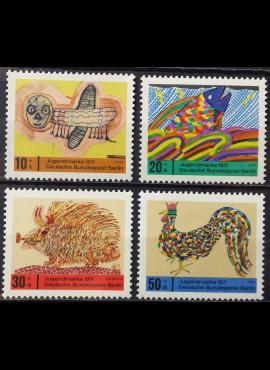 Vokietija, Vakarų Berlynas, pilna serija MiNr 386-389 MNH**