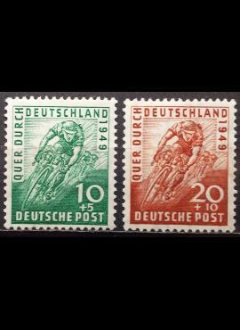 Pokario Vokietija, Amerikiečių/Britų zona, pilna serija MiNr 106-107 MLH*