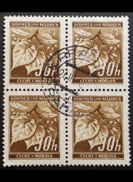 Vokietijos Reichas, Čekijos okupacija, MiNr 64 kvartblokis Used (O)