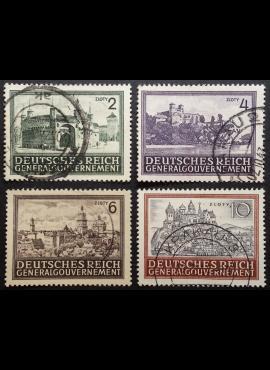 Vokietijos Reichas, Lenkijos okupacija, pilna serija, MiNr 113-116 Used (O)