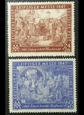Pokario Vokietija, Sąjungininkų zona, pilna serija, MiNr 941 II B-942 II B MNH**