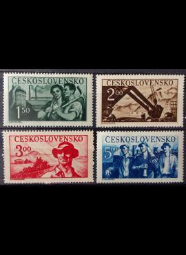 Čekoslovakija, pilna serija MiNr 614-617 MNH**/MH*