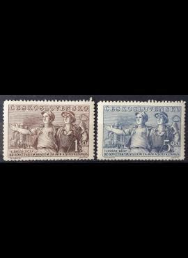 Čekoslovakija, pilna serija MiNr 641-642 MLH*