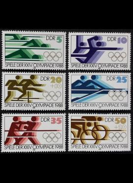 Vokietijos Demokratinė Respublika VDR, pilna serija MiNr 3183-3188 MNH**