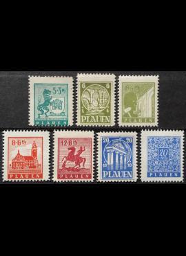 Vokietijos lokalus paštas, Plauenas, pilna serija MiNr 1-7 MLH*