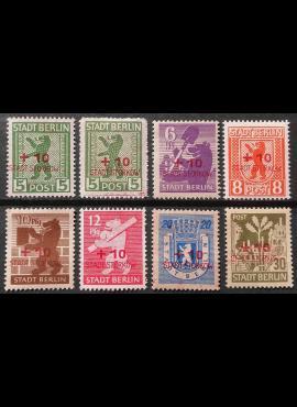 Vokietijos lokalus paštas, Storkovas, pilna serija MiNr 1-8 MLH*/MH*