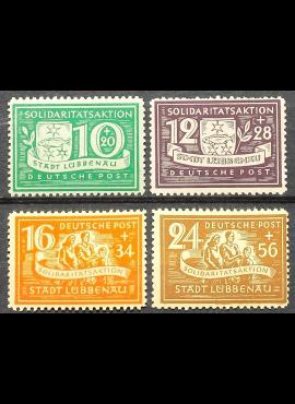 Vokietijos lokalus paštas, Liubenau, pilna serija MiNr 9-12 (A) MLH*