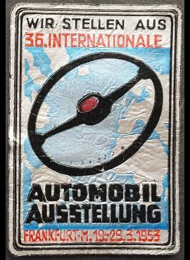 Frankfurto 36-osios Tarptautinės automobilių parodos lipdukas