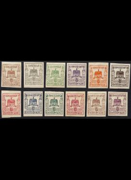 Vokietijos lokalus paštas, Finstervaldas, pilna serija MiNr 1-12 MNH**