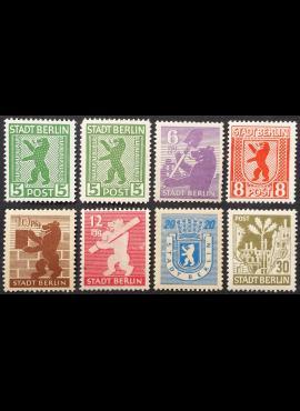 Pokario Vokietija, Berlynas ir Brandenburgas, pilna serija, MiNr 1-7 MLH*/MH*