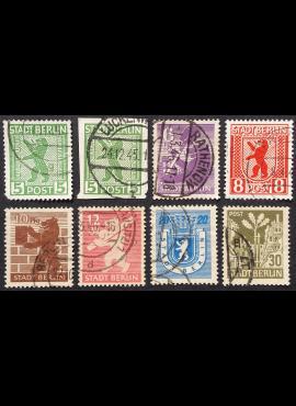 Pokario Vokietija, Berlynas ir Brandenburgas, pilna serija, MiNr 1-7 Used (O)