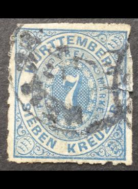Senoji Vokietija, Viurtembergas, 1869 m. MiNr 39 Used (O)
