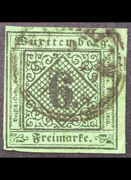 Senoji Vokietija, Viurtembergas, MiNr 3 Used (O)