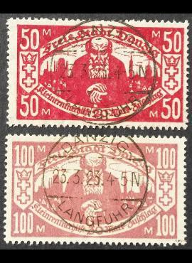 Laisvasis miestas Danzigas, pilna serija MiNr 131-132 Used (O)