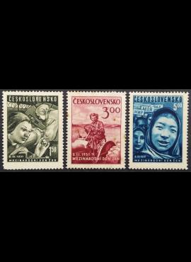 Čekoslovakija, pilna serija, MiNr 650-652 MLH*/MH*