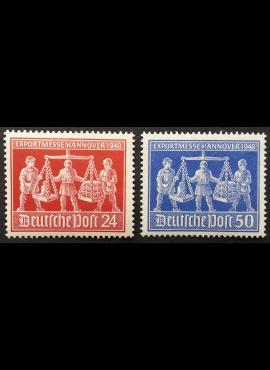 Pokario Vokietija, Sąjungininkų zona, pilna serija MiNr 969-970 MLH*