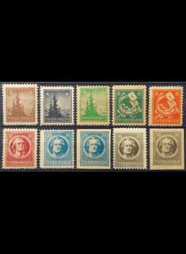 Pokario Vokietija, Sovietų zona, pilna serija MiNr 92-99 (X) MLH*/MH*