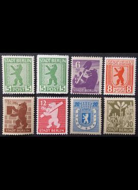 Pokario Vokietija, Berlynas ir Brandenburgas, pilna serija, MiNr 1-7 MNH**