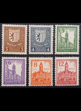 Pokario Vokietija, Sovietų zona, pilna serija MiNr 156-161 (x) MLH*/MH*