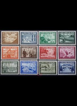 Vokietijos Reichas, pilna serija MiNr 702-713 MNH**/MLH*