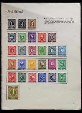 Pokario Vokietija, Sąjungininkų zona, pilna serija, MiNr 911-937 MNH**/MLH*