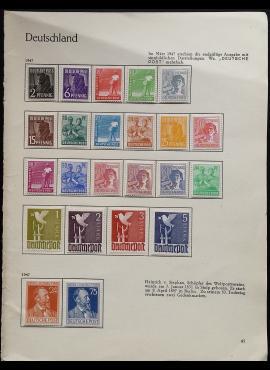 Pokario Vokietija, Sąjungininkų zona, dvi pilnos serijos, MiNr 943-964 MLH*