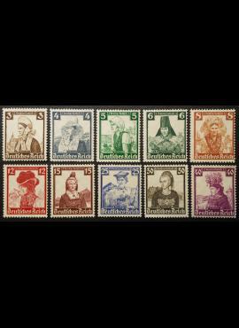 Vokietijos Reichas, pilna serija MiNr 588-597 MNG (*)