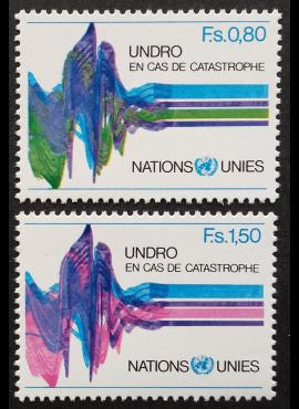 JTO, Ženevos biuras, pilna serija, MiNr 81-82 MNH**