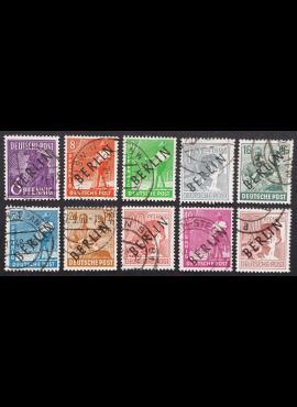 Vokietija, Vakarų Berlynas MiNr 2-5, 7-9, 11-12, 14 Used (O)